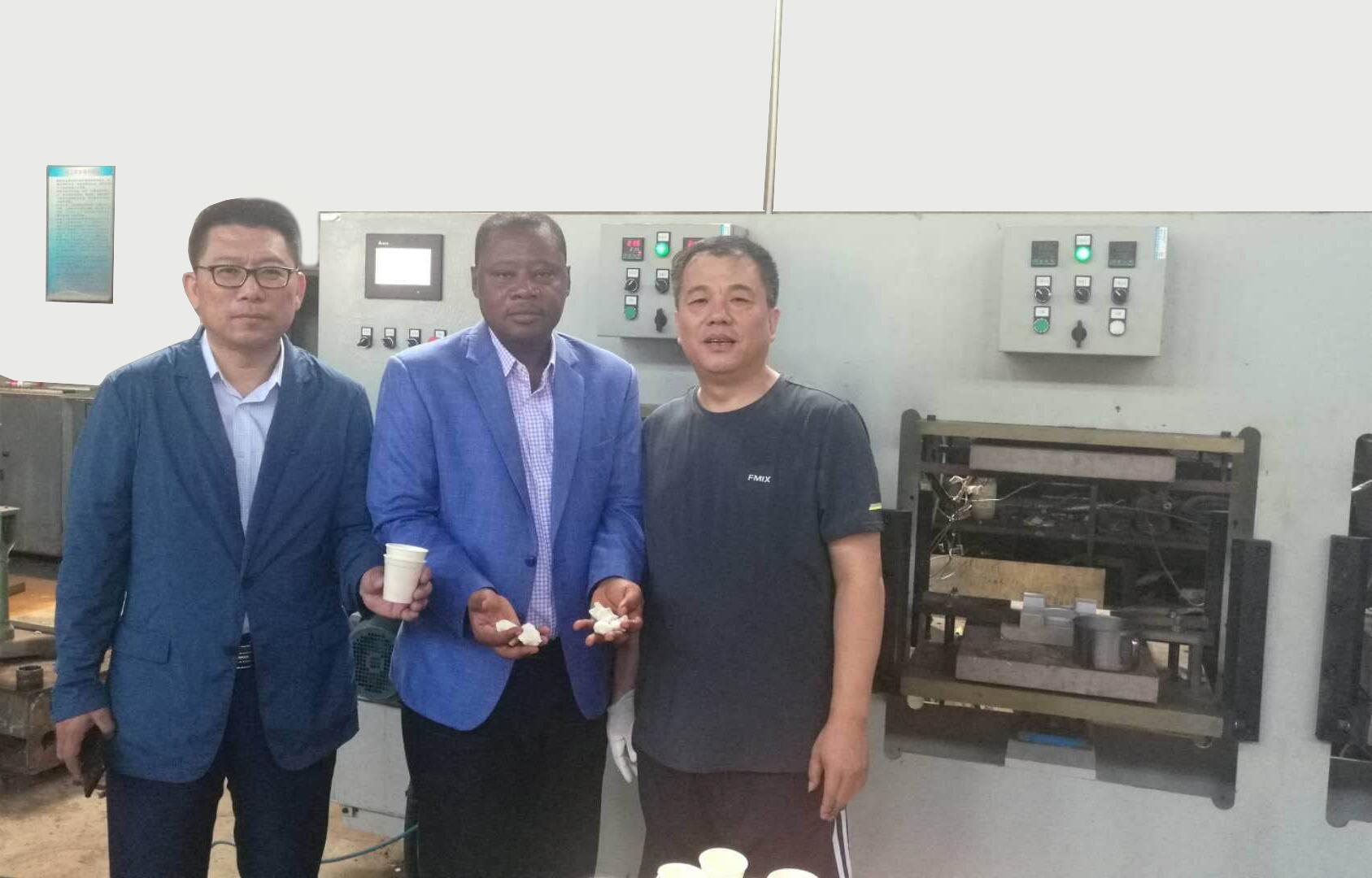 Cassava starch table ware production line