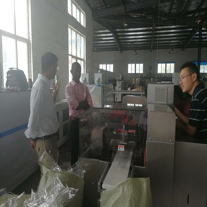 I.V. Soft Bag Wrapping Machine for Cameroon Client